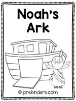 Noah's Ark Print & Fold Book