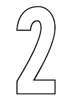 Large Numeral Printables - PreKinders