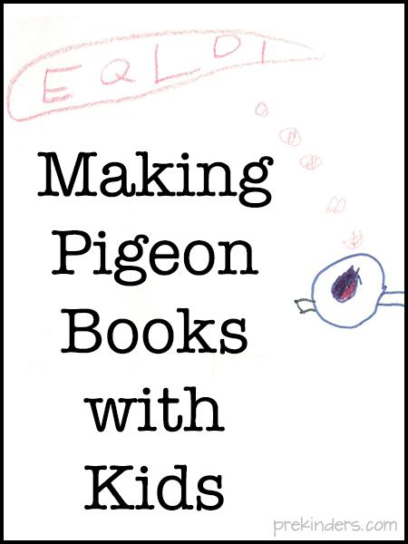 Classroom Management Ideas Kindergarten ~ We love mo willems making pigeon books with kids prekinders