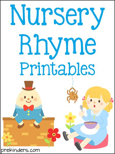 Delicate image for free printable nursery rhymes