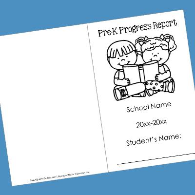 Pre K Progress Report Cover Prekinders