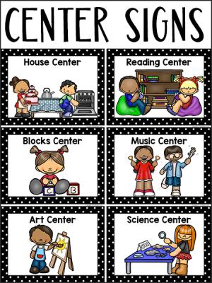Center Signs for Pre-K, Preschool
