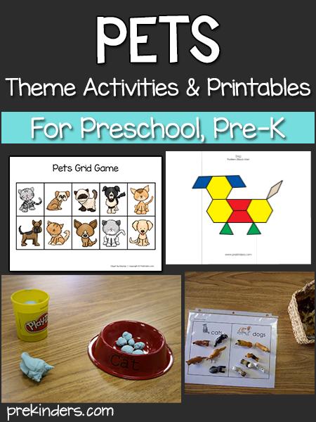 Pets Theme - PreKinders