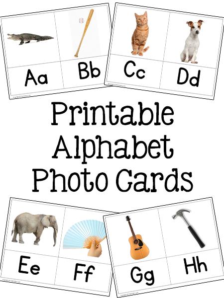 Printable Alphabet Photo Cards