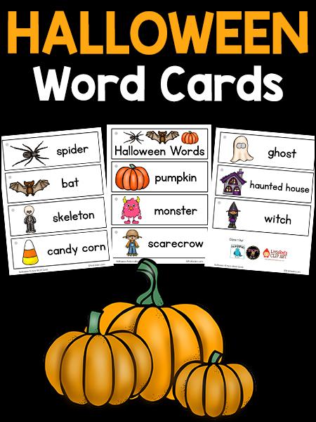 Halloween Picture Word Cards - PreKinders