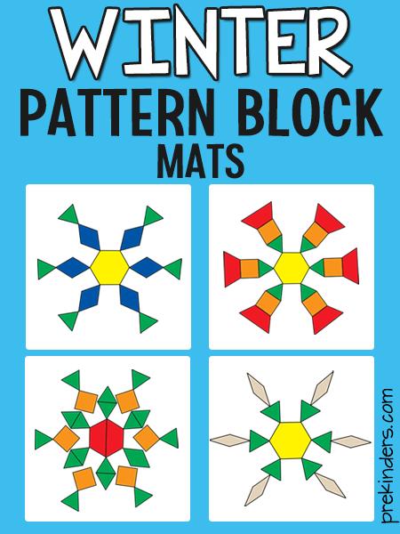 Snowflake Pattern Block Mats - PreKinders