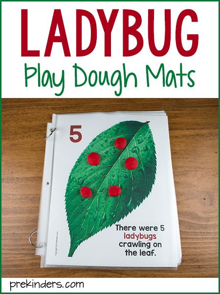 Ladybug Play Dough Math Mats