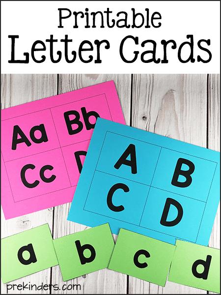 Printable Letter Cards - PreKinders