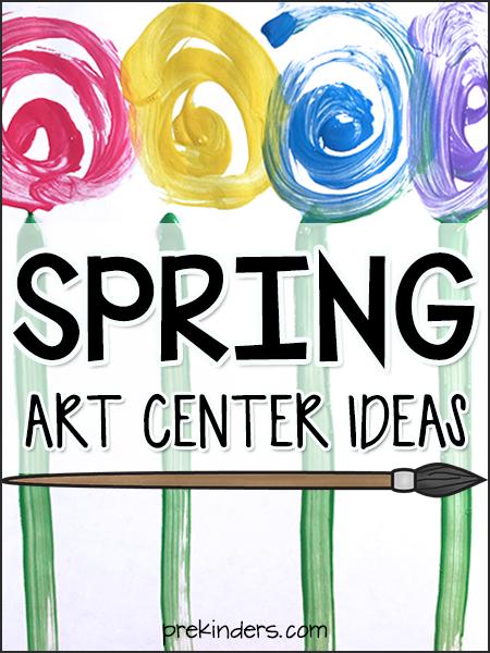 Spring Art Center Ideas for Preschool, Pre-K
