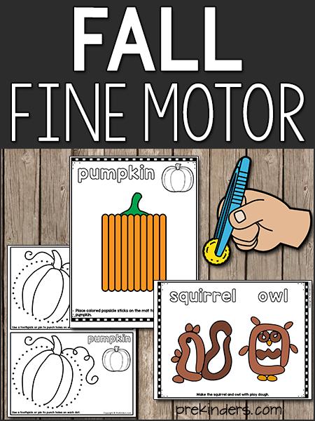 Fall Fine Motor for Pre-K