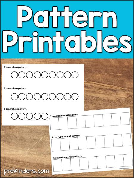 Pattern Printables For Math - PreKinders